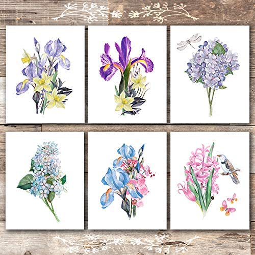 Botanical Prints Wall Art (Set of 6) - 8x10s | Flower Bouquets - Dream Big Printables