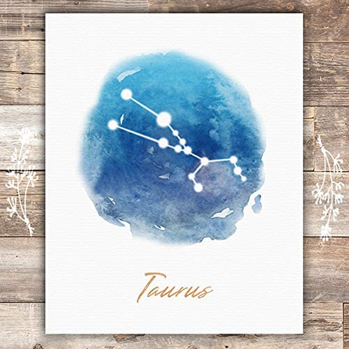 Watercolor Constellation - Taurus - Art Print - Unframed - 8x10 - Dream Big Printables