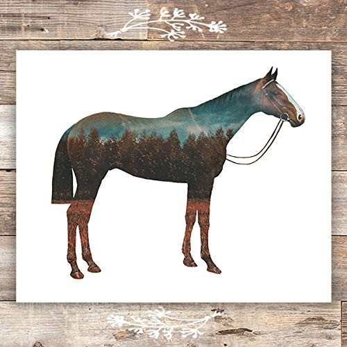 Double Exposure Horse Art Print - Unframed - 8x10 - Dream Big Printables