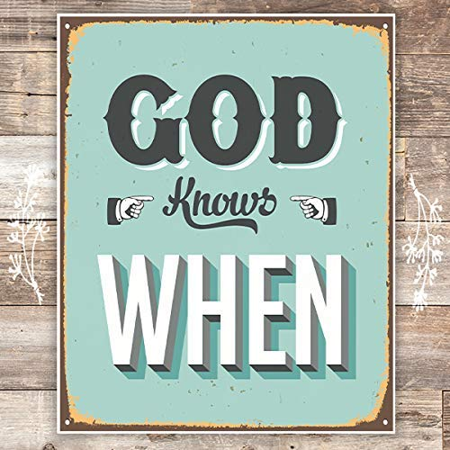 God Knows When - Unframed - 8x10 | Christian Art Print - Dream Big Printables