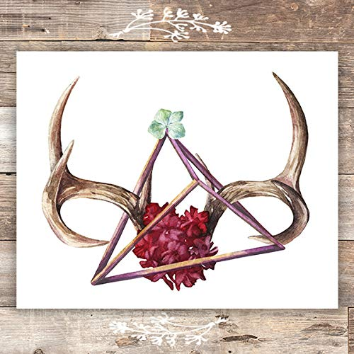 Abstract Antlers Art Print - 8x10 - Dream Big Printables