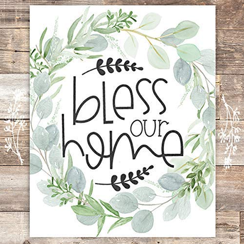 Bless Our Home Art Print - Unframed - 8x10 - Dream Big Printables