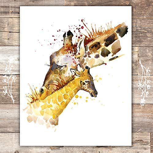 Giraffes Wall Art Print - Unframed - 8x10 - Dream Big Printables