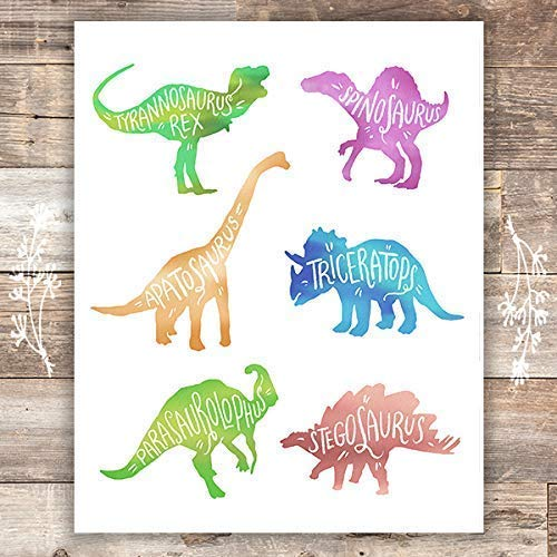 Dinosaurs Wall Art Print - Unframed - 8x10s - Dream Big Printables