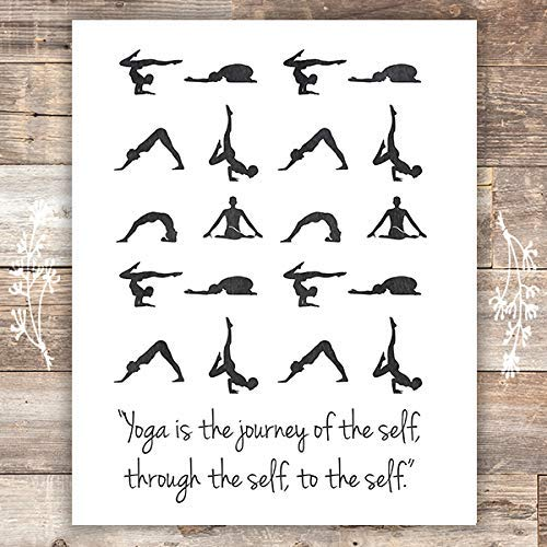 Yoga Poses Wall Art Print - Unframed - 8x10 - Dream Big Printables