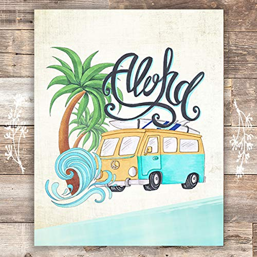 Aloha Art Print - Unframed - 8x10 - Dream Big Printables