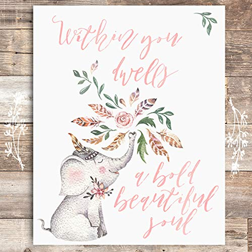 Within You Dwells A Bold Beautiful Soul Art Print - Unframed - 8x10 - Dream Big Printables