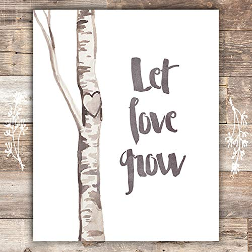 Let Love Grow Heart Tree Art Print - Unframed - 8x10 - Dream Big Printables