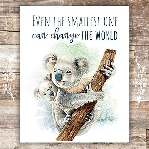 Koalas Wall Art Print - Nursery Decor - 8x10 - Dream Big Printables