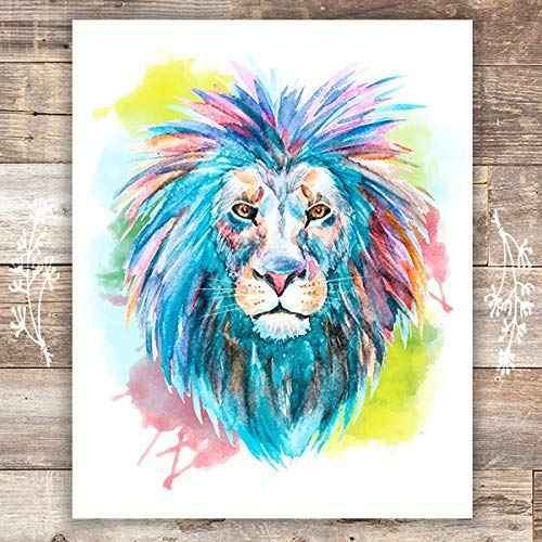 Lion Wall Art Print - Unframed - 8x10 - Dream Big Printables