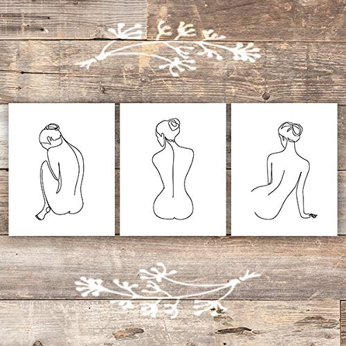 Woman Sketches Set Art Prints (Set of 3) - Unframed - 8x10s - Dream Big Printables