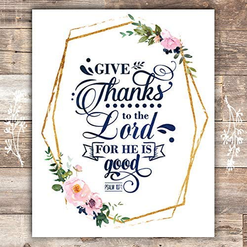 Give Thanks To The Lord Art Print - Unframed - 8x10 - Dream Big Printables