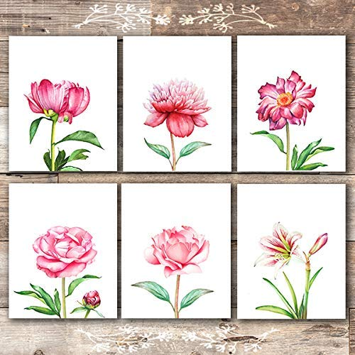 Floral Wall Art Prints (Set of 6) - Unframed - 8x10s | Botanical Decor - Dream Big Printables