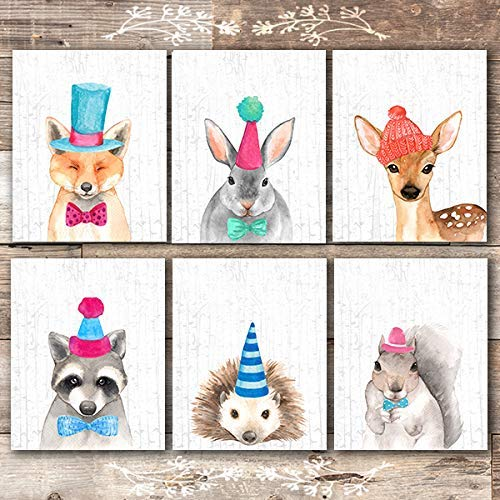 Woodland Nursery Wall Art Prints (Set of 6) - Unframed - 8x10s | Boys Nursery Decor - Dream Big Printables