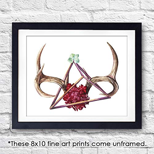 Abstract Antlers Art Print - Unframed - 8x10 - Dream Big Printables