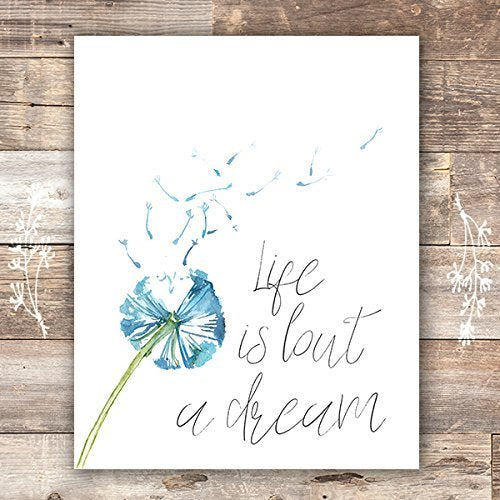 Life Is But a Dream Art Print - Unframed - 8x10 - Dream Big Printables