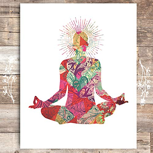 Yoga Pose Art Print - Unframed - 8x10 | Inspirational Decor - Dream Big Printables