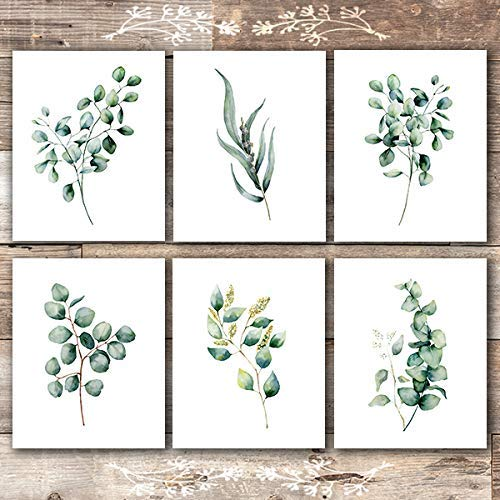 Eucalyptus Leaves | Botanical Prints Wall Art (Set of 6) - Unframed - 8x10s - Dream Big Printables