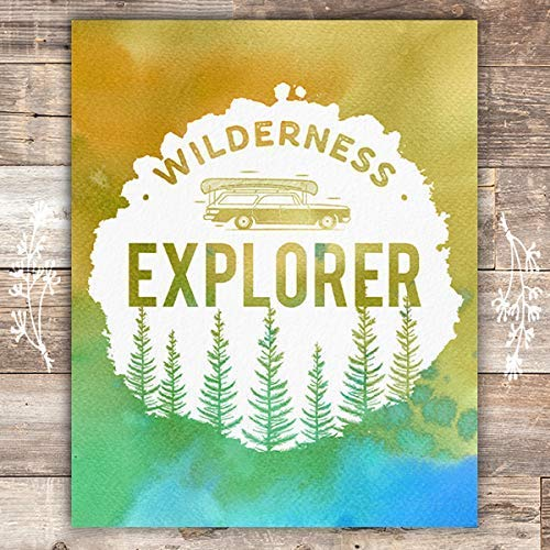 Wilderness Explorer Art Print - Unframed - 8x10 - Dream Big Printables