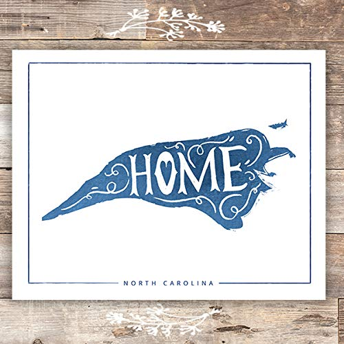 North Carolina Wall Art Print - Unframed - 8x10 - Dream Big Printables