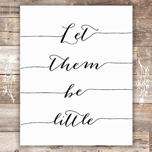 Let Them Be Little Art Print - Unframed - 8x10 | Nursery Wall Art - Dream Big Printables