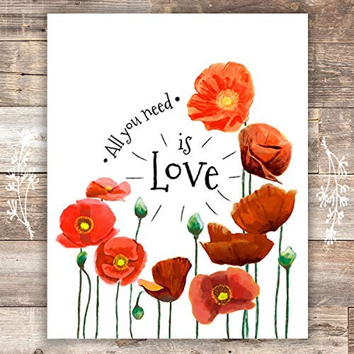 All You Need Is Love Art Print - Unframed - 8x10 - Dream Big Printables