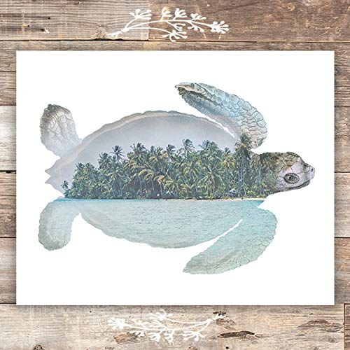 Double Exposure Sea Turtle Print - Unframed - 8x10 - Dream Big Printables