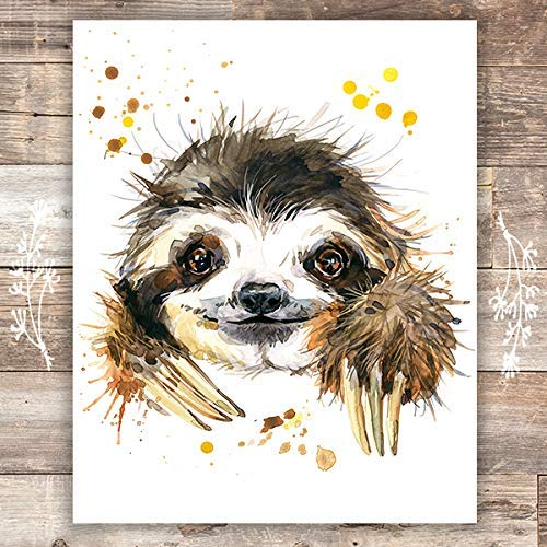 Sloth Wall Art Print - Unframed - 8x10 - Dream Big Printables