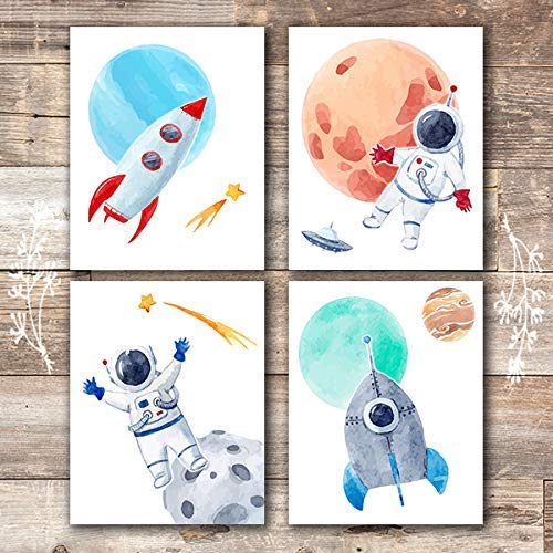 Kids Space Decor Art Prints (Set of 4) - Unframed - 8x10s - Dream Big Printables