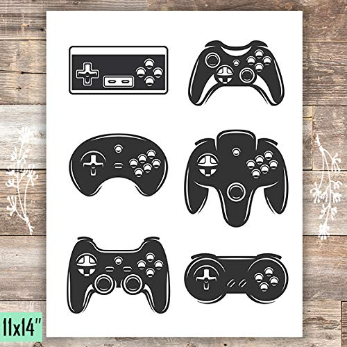 Video Game Wall Art Print - Unframed - 11x14 - Dream Big Printables