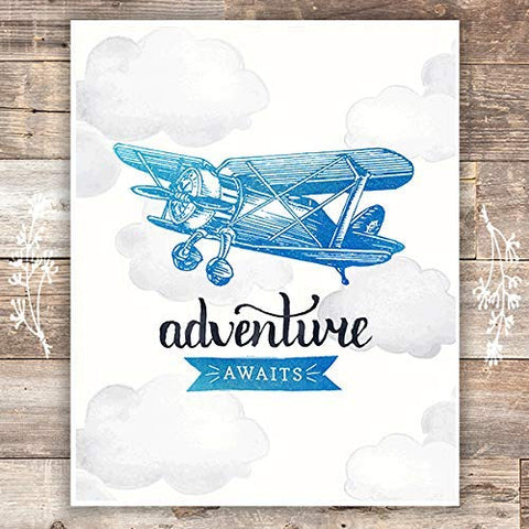 Adventure Awaits Art Print - Unframed - 8x10