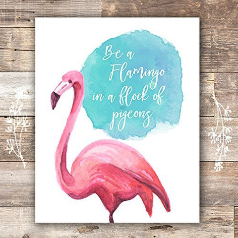 Flamingo Decor Art Print - Unframed - 8x10 - Dream Big Printables