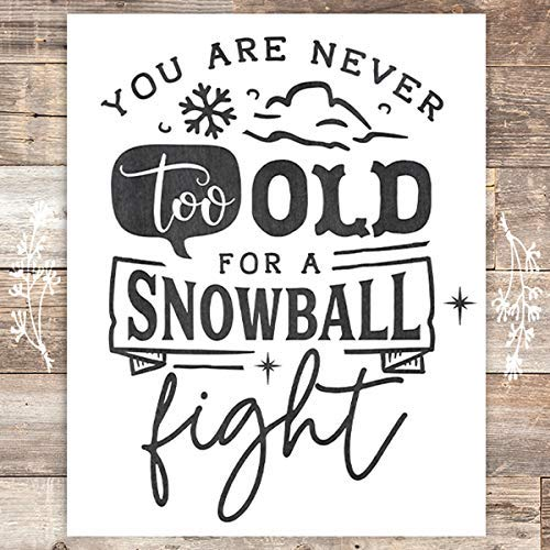 Snowball Christmas Art Print - Unframed - 8x10 - Dream Big Printables