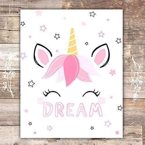 Unicorn Wall Decor Art Print - Unframed - 8x10 - Dream Big Printables