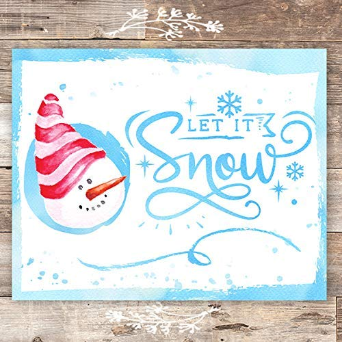 Let It Snow Christmas Art Print - Unframed - 8x10 - Dream Big Printables
