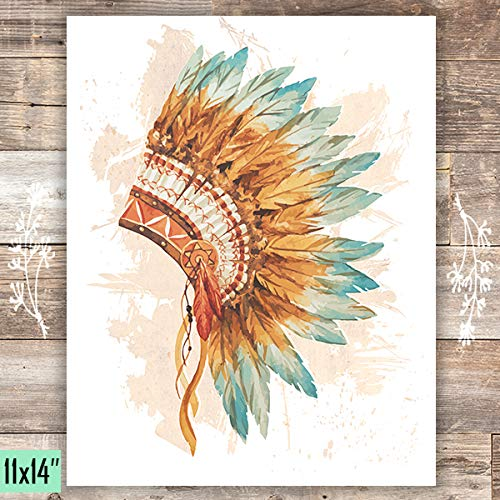 Headdress Art Print - Unframed - 11x14 - Dream Big Printables
