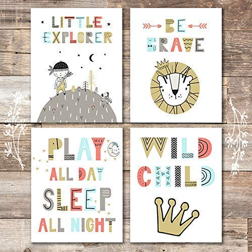 Little Explorer Decor Art Prints (Set of 4) - Unframed - 8x10s - Dream Big Printables
