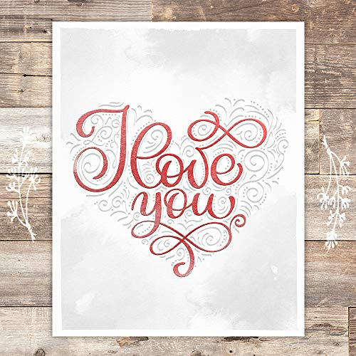 I Love You Heart Art Print - Unframed - 8x10 - Dream Big Printables