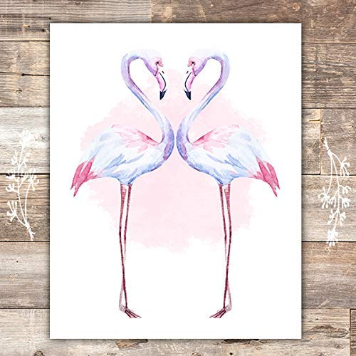Flamingo Wall Art Print - Unframed - 8x10 - Dream Big Printables