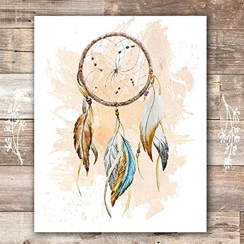 Dreamcatcher Wall Art Print - Unframed - 8x10 | Native American Decor - Dream Big Printables