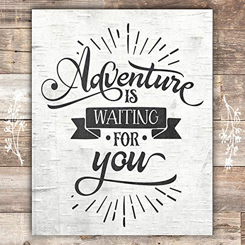Adventure Is Waiting For You Art Print - Unframed - 8x10 - Dream Big Printables