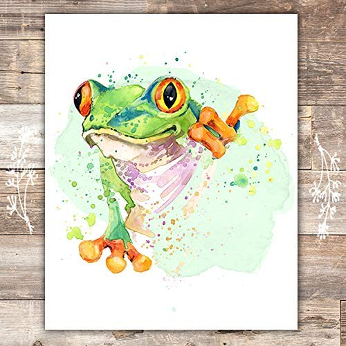 Frog Wall Art Print - Unframed - 8x10 - Dream Big Printables