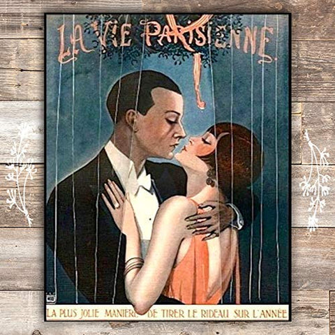 The Prettiest Way La Parisienne Cover French Art Print - Unframed - 8x10