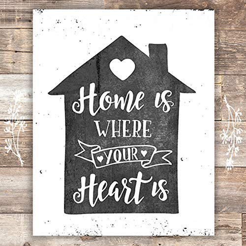 Home Is Where Your Heart Is Art Print - Unframed - 8x10 - Dream Big Printables