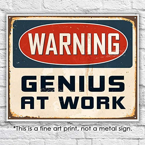 Genius at Work Art Print - Unframed - 8x10 - Dream Big Printables