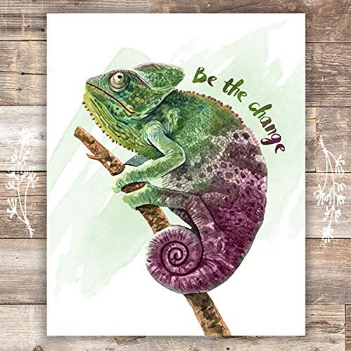 Chameleon Wall Art Print - Tropical Home Decor - Unframed - 8x10 - Dream Big Printables
