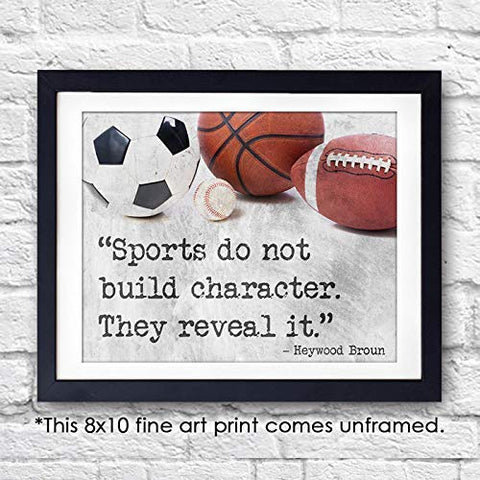 Sports Quotes Wall Art Print - Unframed - 8x10 | Baseball, Basketball, Football, Soccer