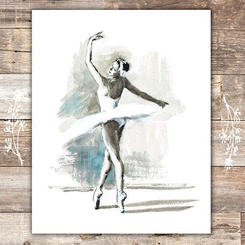 Ballerina Art Print - Unframed - 8x10 - Dream Big Printables