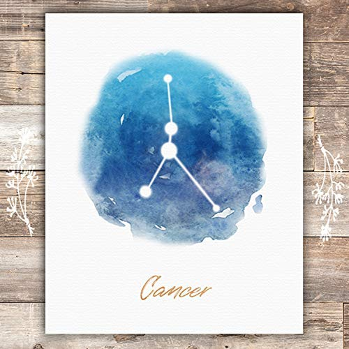 Watercolor Constellation - Cancer - Art Print - Unframed - 8x10 - Dream Big Printables