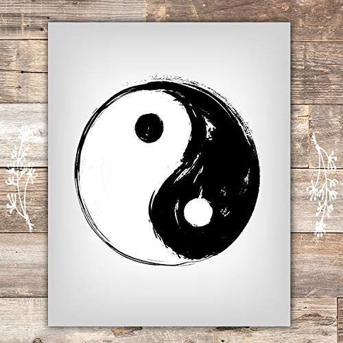 Yin Yang Wall Art Print - 8x10 - Dream Big Printables